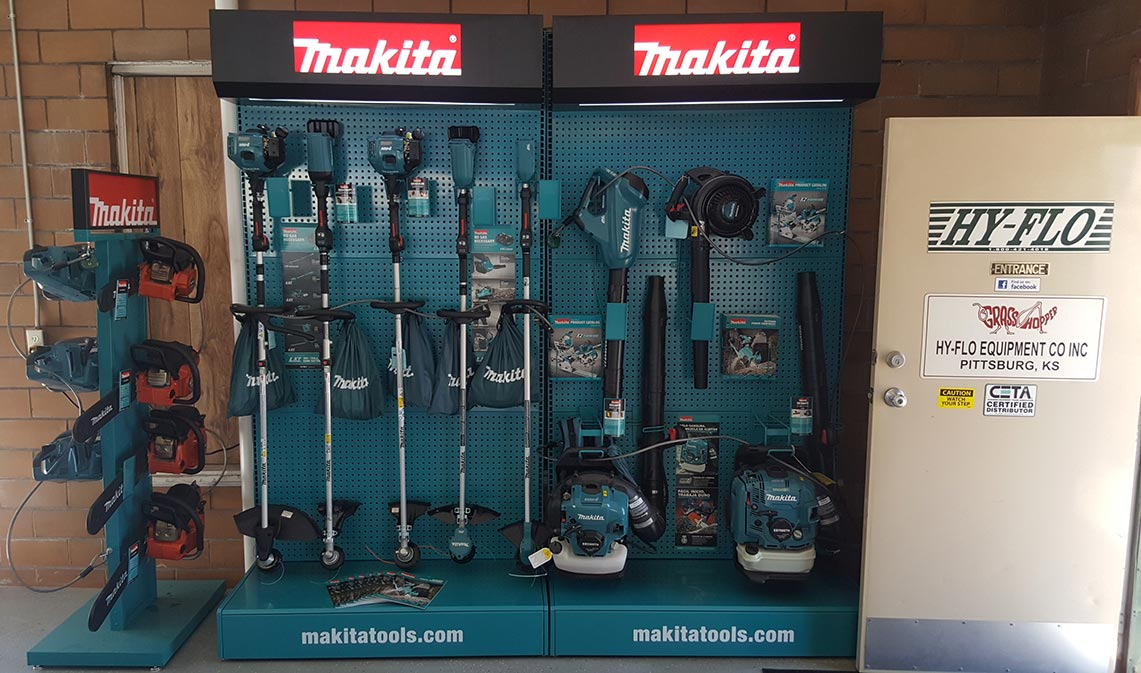 Hy-Flo Equipment Makita Display